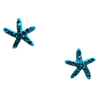 Crystal Star Fish Earrings