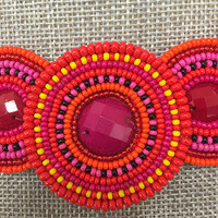 Concentric Beaded Circles Necklace 1