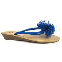 (Featured in Oprah Magazine!!)Sondra Roberts' Rubber Pom Pom Sandal