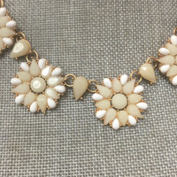 Ivory and White Floral Necklace