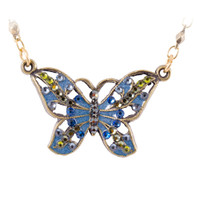 Smaller Filigree Vintage Butterfly Necklace