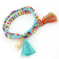Sequins, Beads, Tassels & a Shell Trio