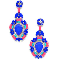 Exquisite Jewel Dangle Blue