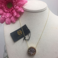 House of Harlow Abalone Starburst Necklace