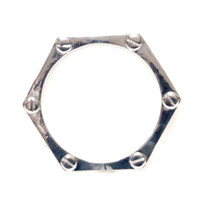 Locked in Love Bangle Silver