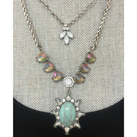 Turquoise Sun Layered Necklace