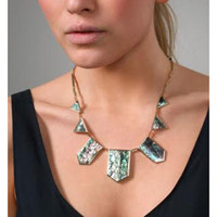 House of Harlow Mother-of Pearl Station Necklace