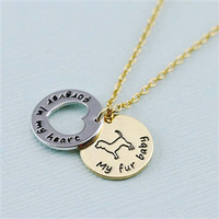 """Beagle """"Fur Baby"""" Forever in Our Hearts Necklaces"""