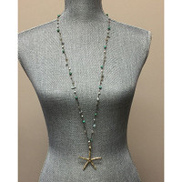 Long Starfish Pendant Necklace 1