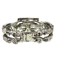 Antiqued Deco Hinged Bangle