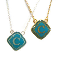 Preppy Little Turquoise Initials