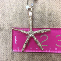 Long Starfish Pendant Necklace