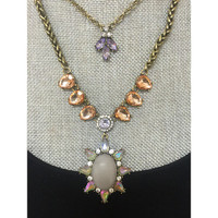 Gray Sun Layered Necklace