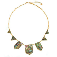 House of Harlow Abalone Station Necklace
