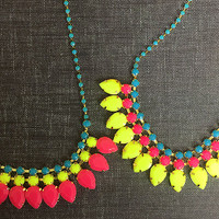"""Neon is Hot!"" Necklace 1"