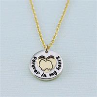 """Pomeranian """"Fur Baby"""" Forever in Our Hearts Necklaces"""