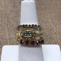 Set of 3 Vintage Stackable Rings G