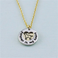 """Labrador Retriever """"Fur Baby"""" Forever in Our Hearts Necklaces"""
