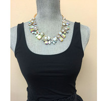 Bring the Drama Polished and Opaque Crystal Necklace