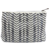 SR Squared By Sondra Robert's Wonderful Woven Vinyl Clutch