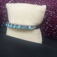 Sorrelli Eight Light Teal Round Crystal Cuff