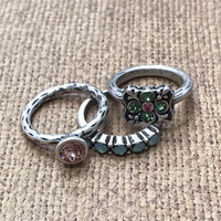 Set of 3 Spring Stackable Rings