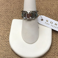 Sorrelli's Pebble Blue Geo Ring