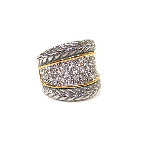 Two Tone Pave Band ring