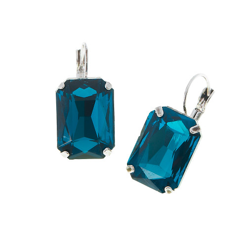 Emerald Cut Emerald Earring 1