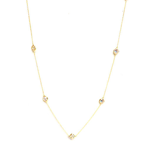 """Clover Shaped Crystal 36"""" Chain"""