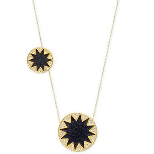 House of Harlow Double Sunburst Necklace