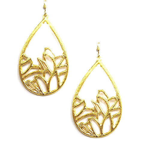 Matte Gold Garden Silhouette Earrings