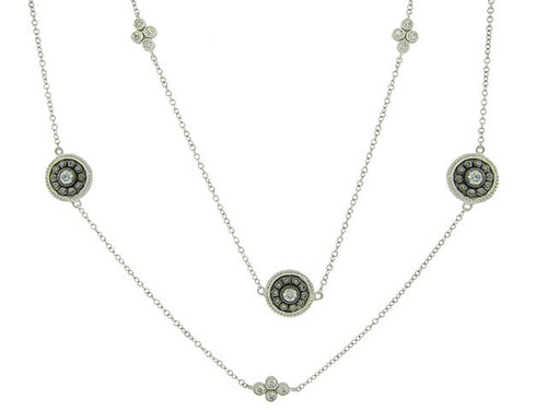 "Freida Rothman's 36"" Shield Medallion Necklace B/S"