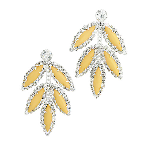 Five Leaf Earring Yellow