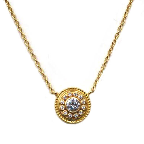 Freida Rothman's Gold Shield Medallion Necklace