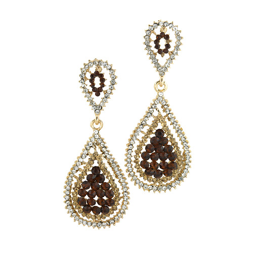 Topaz and Gold Pear-Shaped Drops