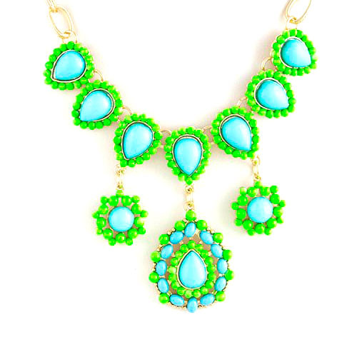 Turquoise Sorority Girl Chic Necklace