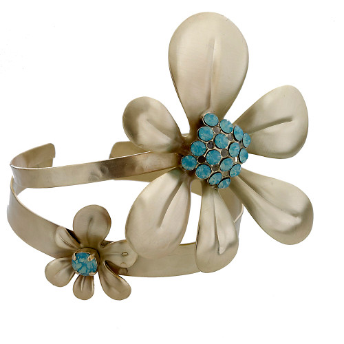 Pacific Opal Double Daisy Cuff G