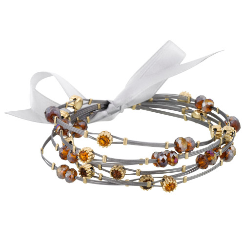 Shades of Amber Whisper Bracelets