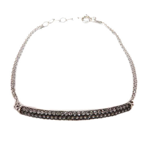 Sterling Cubic Zirconia Bar Bracelet
