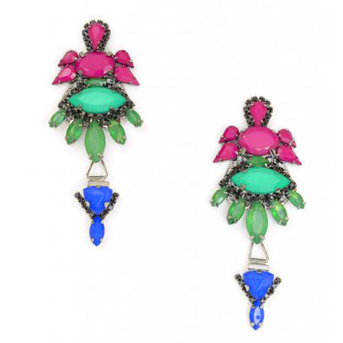 Marquis Jewel Tone Drop Earring
