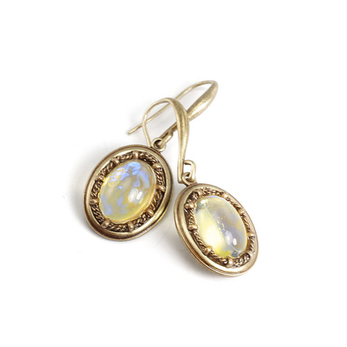 Yellow Opal Vintage Drops