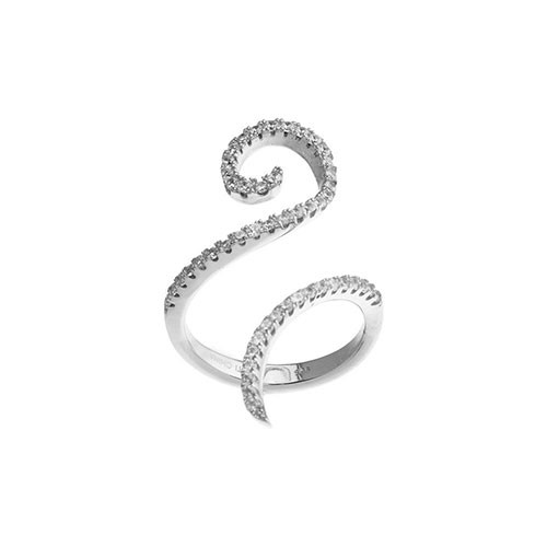 Our Sassy Swirl C.Z. Ring