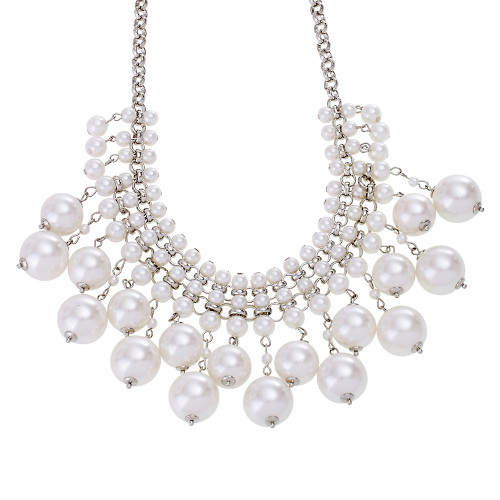 Stacked Pearl Statement Necklace 1