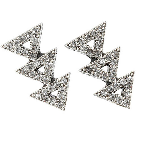House of Harlow's Silver Tone Tessellation Earrings
