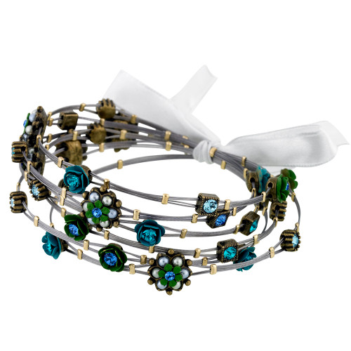 Blue Green Flower Whisper Bracelets