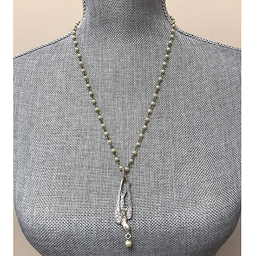 Soaring Sparrow Pearl Necklace