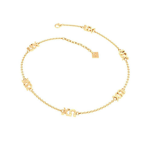 Chi Omega Gold Plated Multi Mini Bracelet