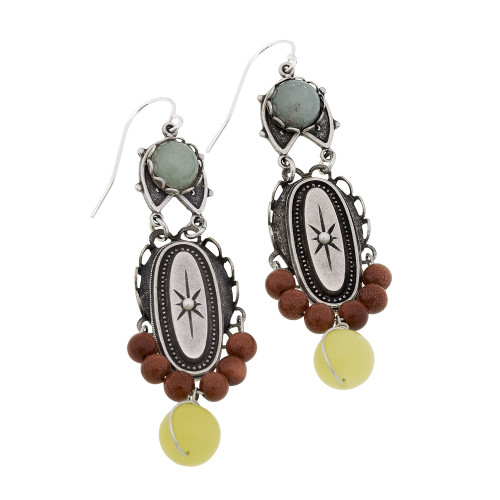 Semi-Precious Dangle Earring