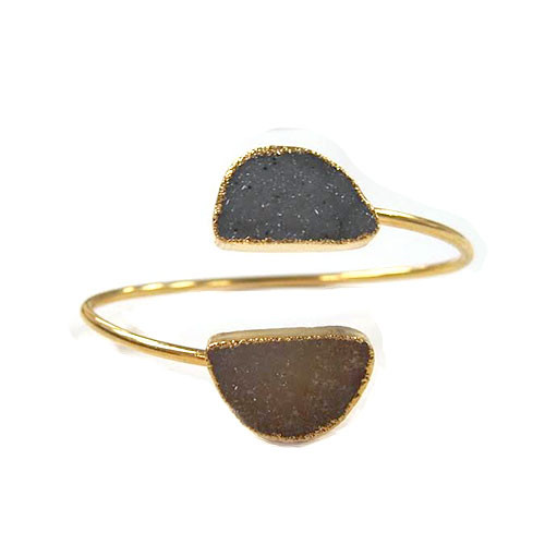 Charlene K's Double Druzy Open Top Bangle